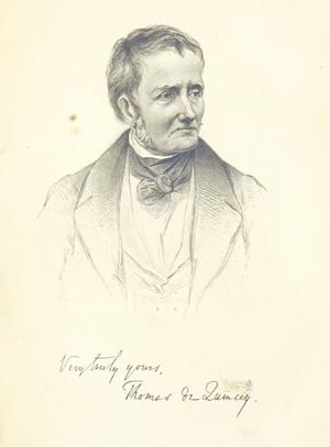 Portrait de Thomas de QuinceyCrédits