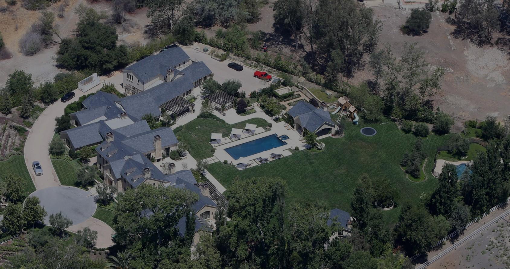 Kim kardashian kanye west inside mansion