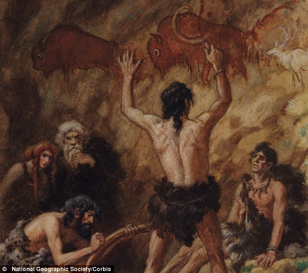 Human Evolution Wall Painting New Article