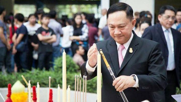 Le général Pol Pol Adul Saengsingkaew, ministre du Travail lors de la cérémonie du 8 mars. Photo : The Nation