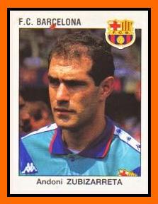 01-Andoni ZUBIZARRETA - Panini FC Barcelone 1994