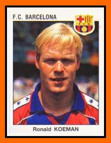03-Ronald KOEMAN - Panini FC Barcelone 1994