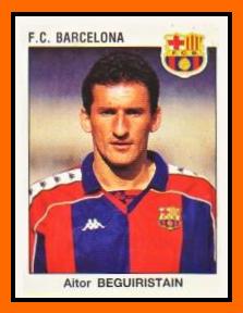 11-Aitor BEGUIRISTAIN - Panini FC Barcelone 1994