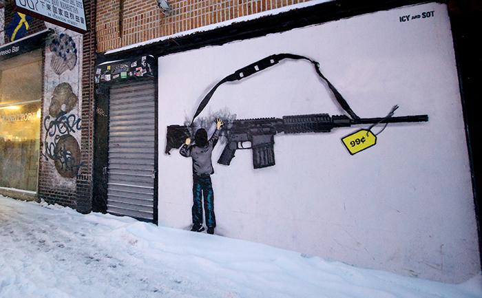Street art seen in Lower East Side, New-York. (http://icyandsot.com)