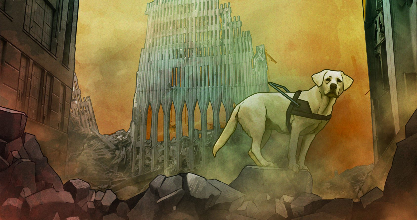 Roselle, le labrador héros du 11-Septembre