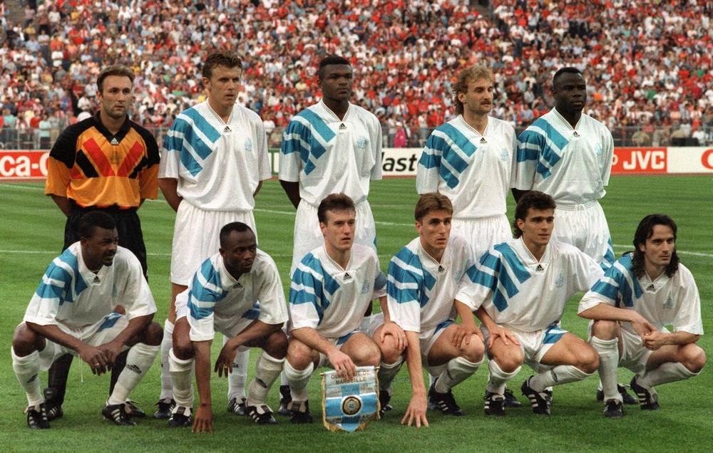 L'équipe de l'OM durant la Ligue des Champions 1992-1993