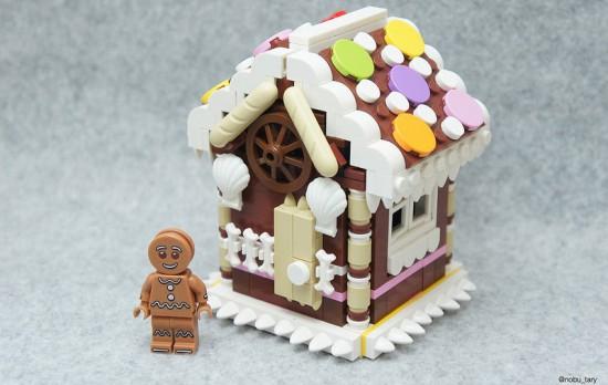 Maison en pain d'épices lego