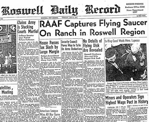 Roswell Daily Record July 8 1947