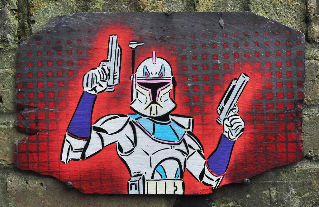 Star Wars Street Art Graffiti Jango Fett 1