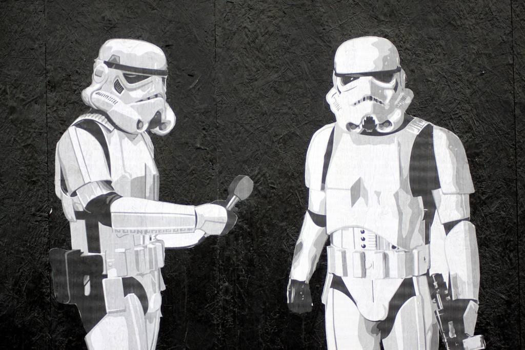 Star Wars Street Art Graffiti Los Angeles California