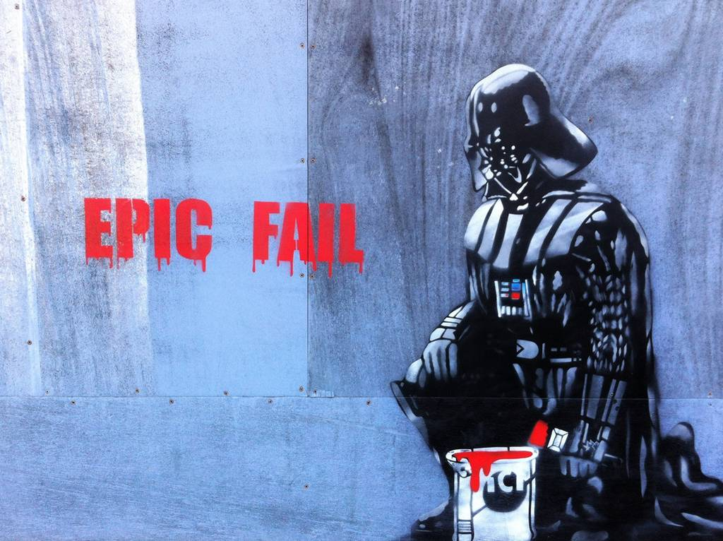 Star Wars Street Art Graffiti Weston Super Mare