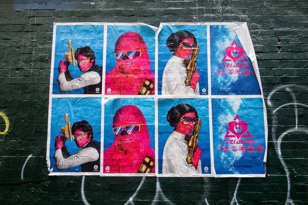 Star Wars Street Art Graffiti melbourne australia 1