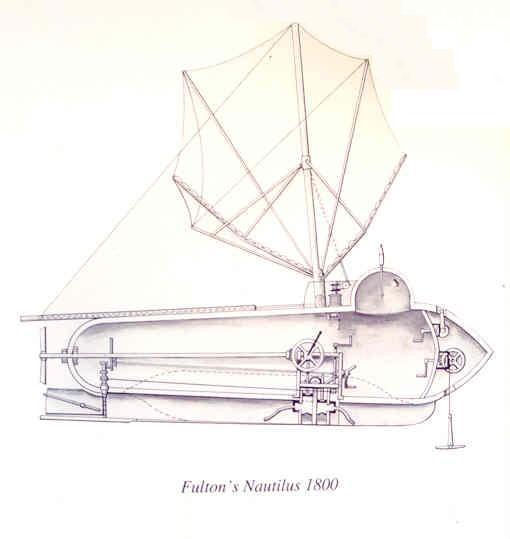 Le Nautilus de Fulton Cet appareil est considéré comme le premier sous-marin et aurait inspiré à Jonhson ses appareils.