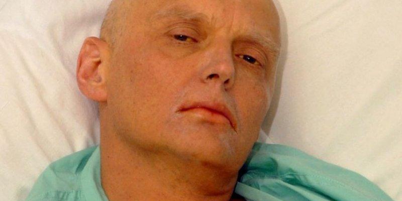 Alexandre Litvinenko sur son lit d'hôpital.