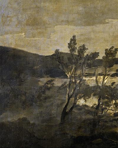 Atropos o Las Parcas, paysageFrancisco de Goya