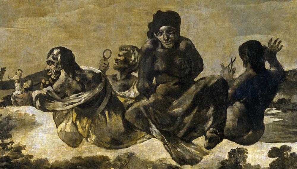Atropos o Las Parcas, groupeFrancisco de Goya