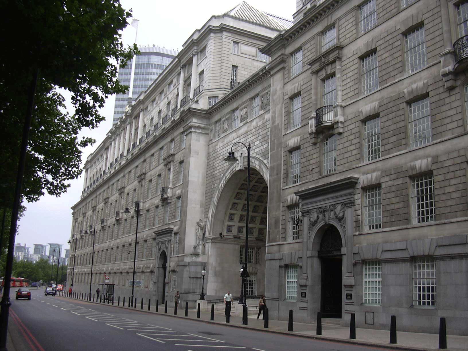 Thames House, a été le quartier général du MI5 dans les années 30 et les années 90Crédits : wikipédia
