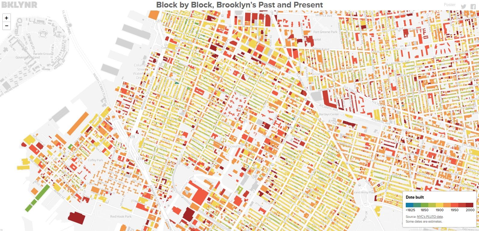 Block by Block, Brooklyn's Past and Present Une carte des bâtiments de Brooklyn Thomas Rhiel