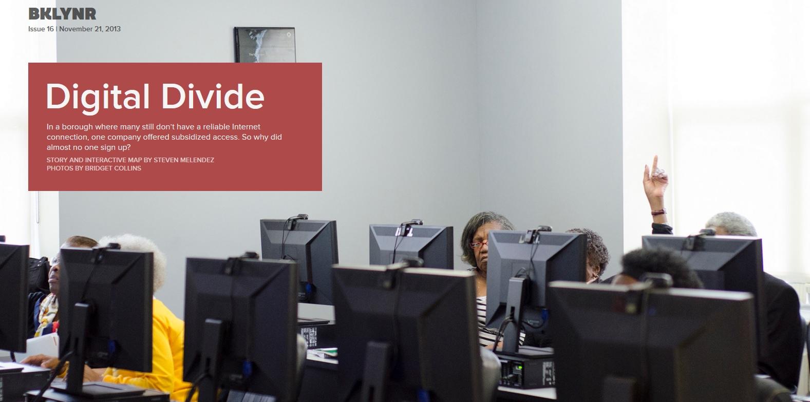 Digital Divide Une histoire accompagnée d'une carte interactive Steve Melendez et Bridget Collins pour BKLYNR