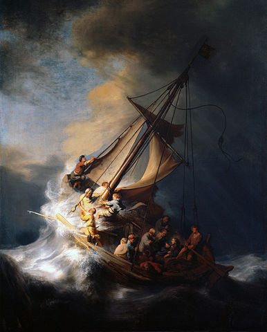 The Storm on the Sea of Galilee, par Rembrandt ( 1633 )