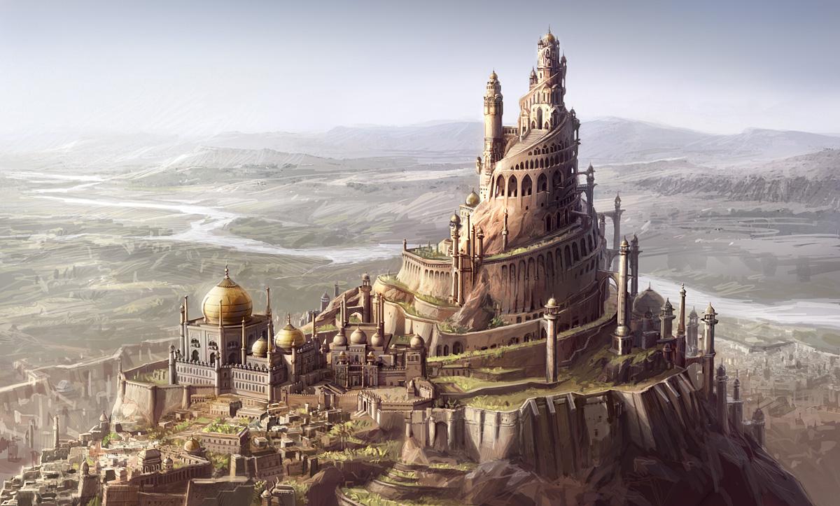 Une reconstitution de la forteresse d'Alamût