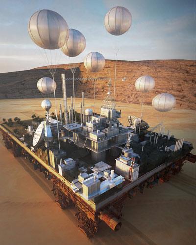 La Green Machine dans le désert© Stéphane Malka
