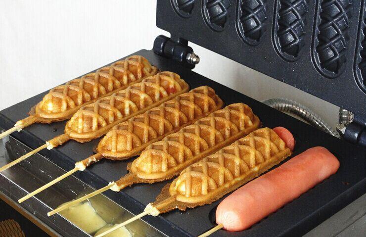 hot dog waffle
