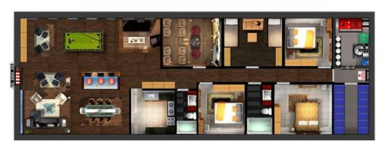 in-this-rendering-we-see-a-three-bedroom-home-complete-with-a-kitchen-living-room-storage-closet-and-home-theater-the-blast-door-is-not-large-enough-for-a-garage