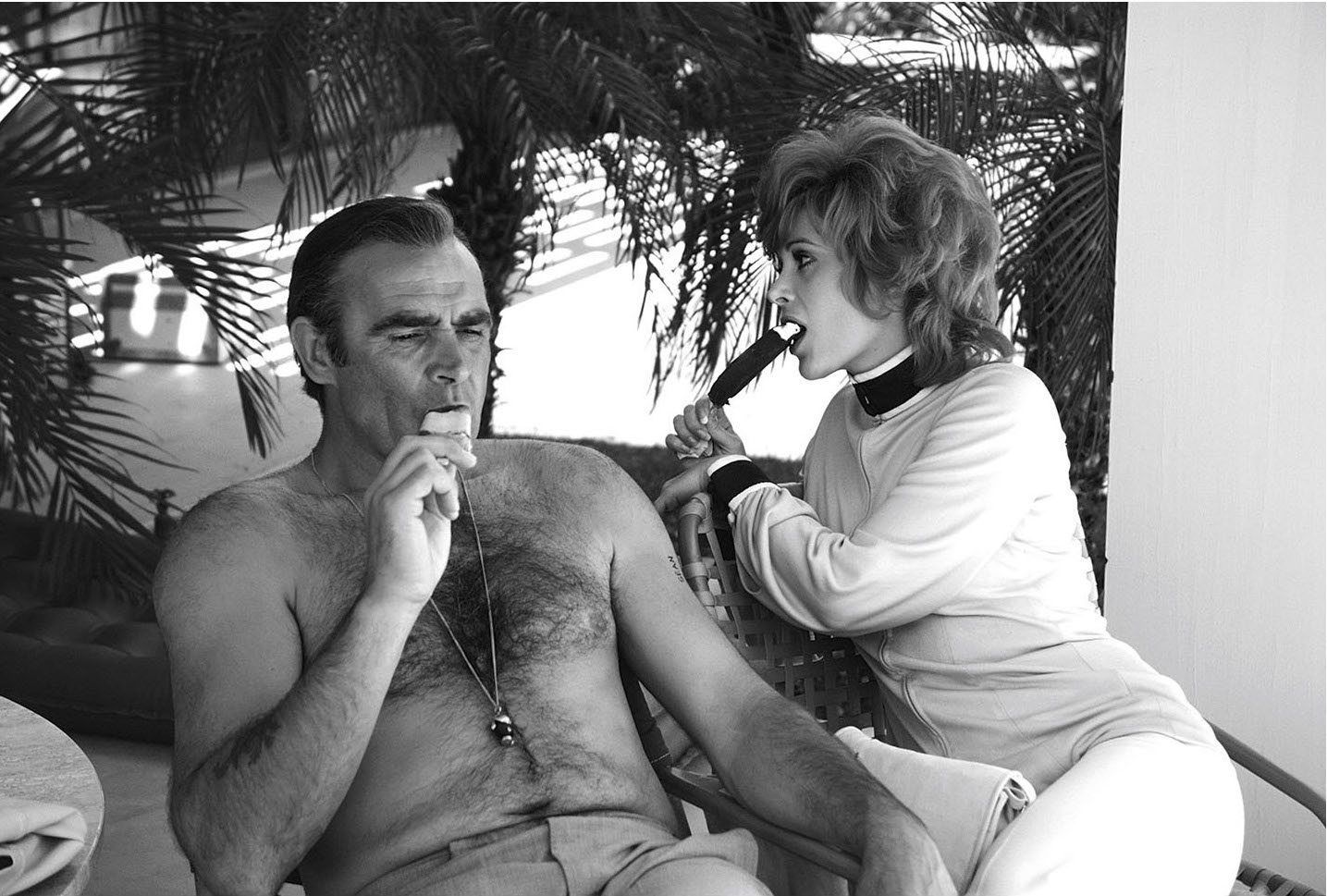 sean-connery-and-american-actress-jill-st-john-relax-on-the-set-of-the-james-bond-film-diamonds-are-forever-usa-may-1971-anwar-hussein