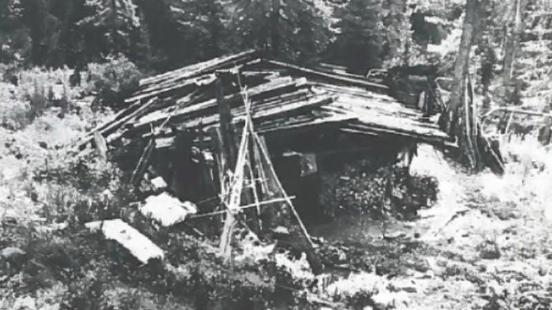 La hutte où vivaient les Lykov© Archives soviétiques