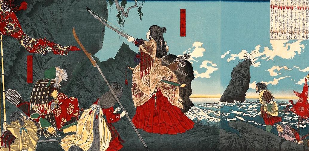 La belliqueuse impératrice Jingu, qui aurait conduit ses armées alors qu'elle portait le futur empereur ÔjinCrédits : wikipédia