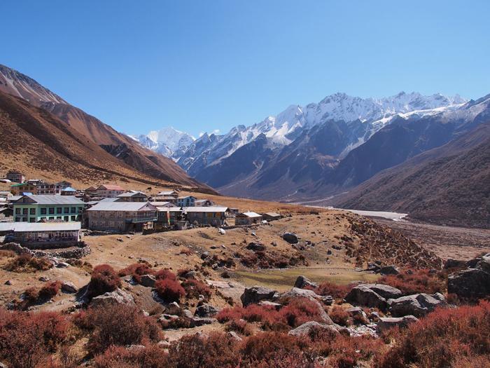 Une partie de la vallée de Langtang, au nord de Katmandou, a été enterrée par des éboulementsCrédits : Michael Hamrah