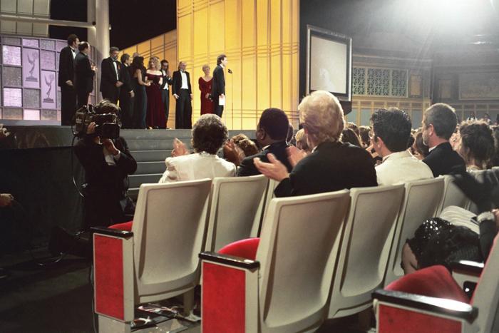 Le casting de Seinfeld lors de la cérémonies des Emmy Awards 1993Crédits : Alan Light