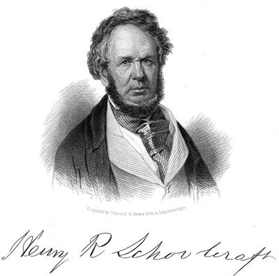 henry Schoolcraft, grand spécialiste de l'étude des Amérindiens au début du XIXème siècleCrédits