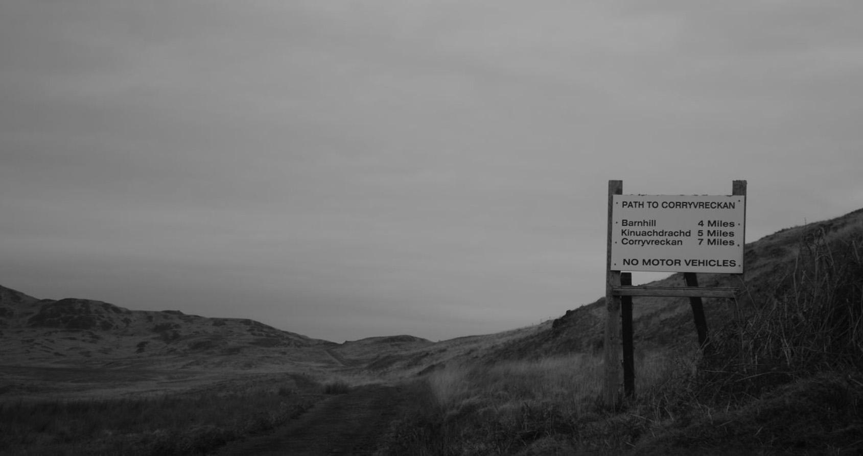Barnhill à 6.5 km - Véhicules à moteur non autorisés Fin de l'A846 Crédits : Matthew Bremner