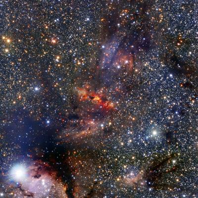 Image de la voie lactée prise par le radiotélescope ALMACrédits ESO