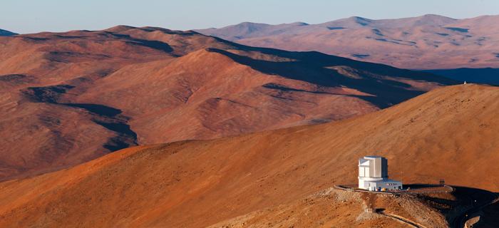 Vue de l'observatoire européen austral (ESO), sur le site de ParanalCrédits : ESO