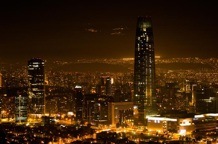 La pollution lumineuse est devenue un vrai problème au Chili, notamment à SantiagoCrédits