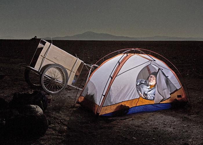 Campement de Jeff et John Une nuit dans le désert Crédits : Jeff Shea