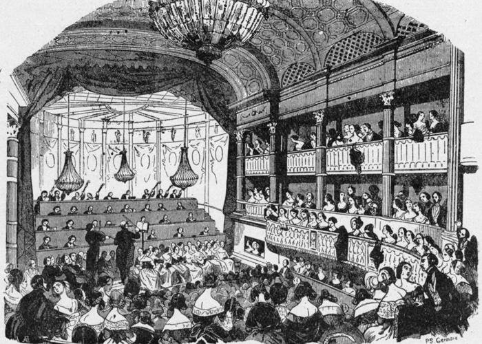 La salle de concert du conservatoire de Paris