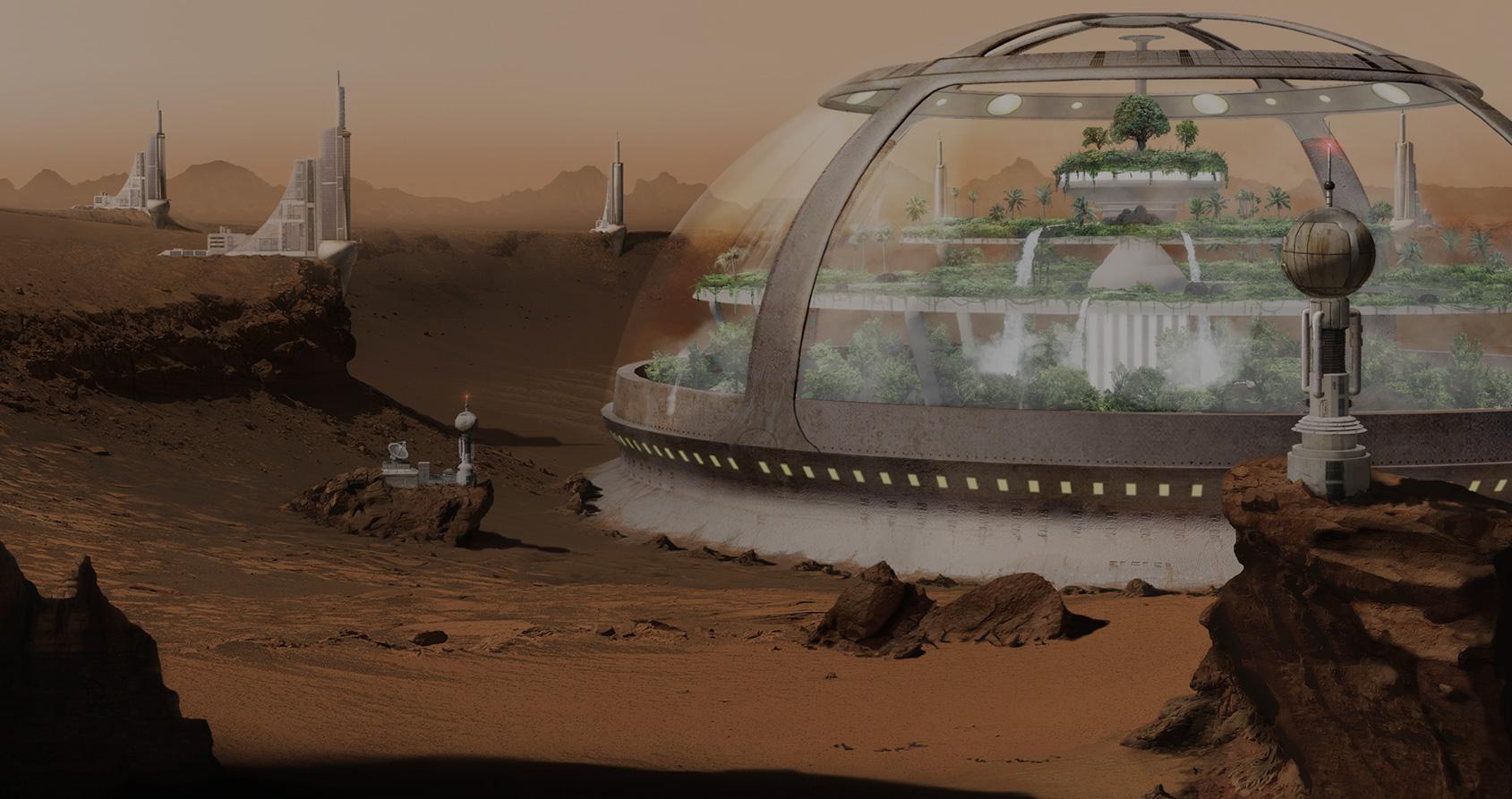 À quoi ressemblera la première colonie martienne ?