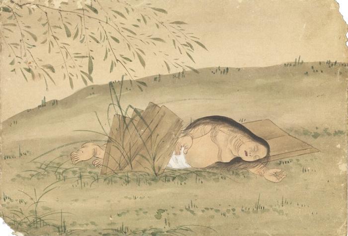 KusozuMort d'une noble dame et décadence de son corps 3/9 XVIIIe siècle