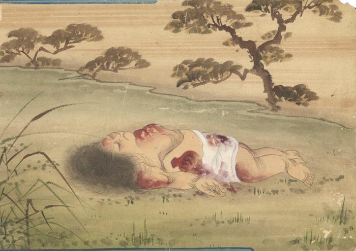 KusozuMort d'une noble dame et décadence de son corps 4/9 XVIIIe siècle