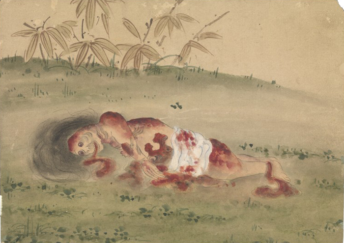 KusozuMort d'une noble dame et décadence de son corps 5/9 XVIIIe siècle