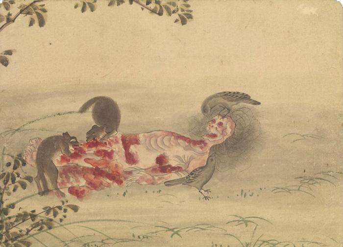 KusozuMort d'une noble dame et décadence de son corps 6/9 XVIIIe siècle