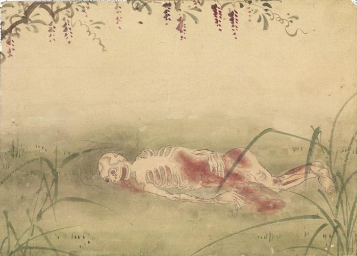 KusozuMort d'une noble dame et décadence de son corps 7/9 XVIIIe siècle