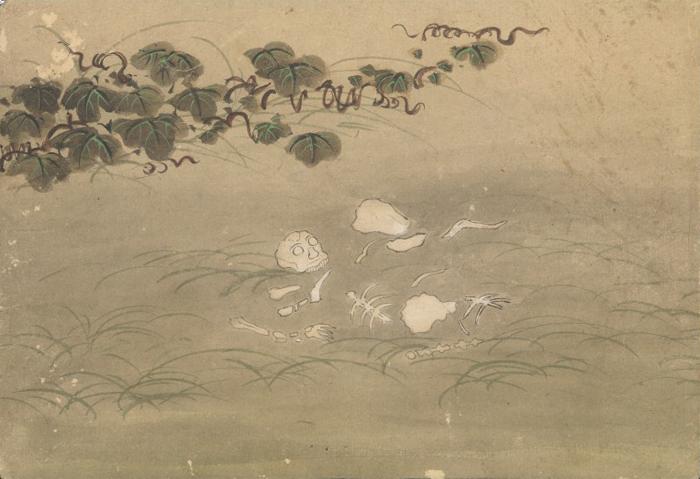 KusozuMort d'une noble dame et décadence de son corps 8/9 XVIIIe siècle
