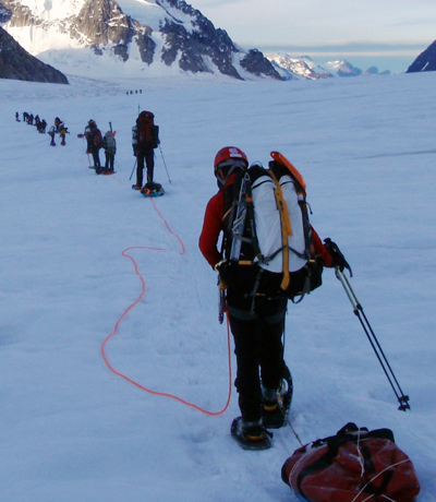 Alpinistes en plein effortCrédits