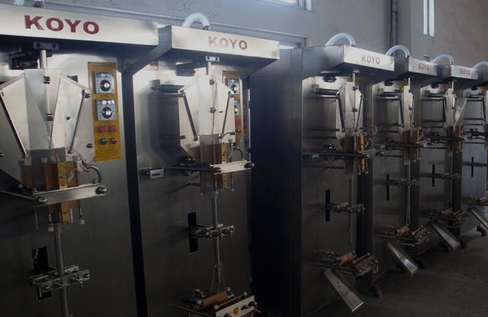 Les machines à emballer l'eauCrédits : Koyo Beverage