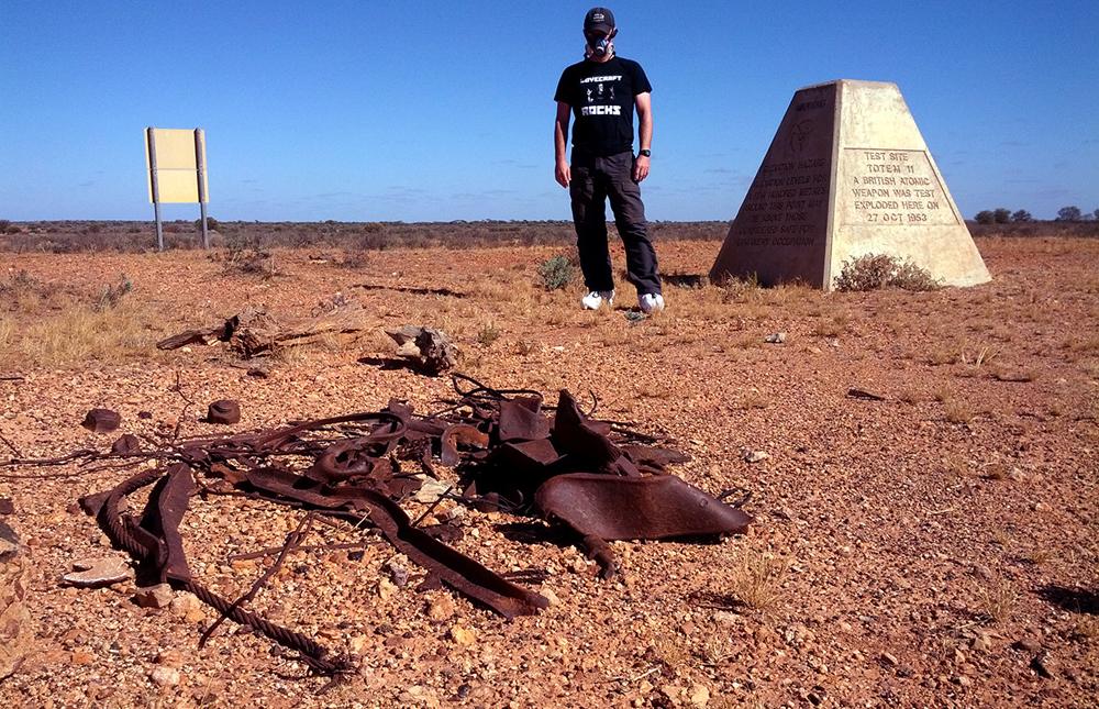 Des obélisques marquent l'emplacement des explosions nucléairesCrédits : Mikey Pryvt